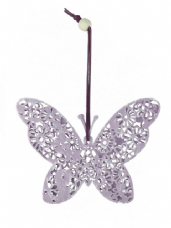 Filigree Butterfly Hanger - Lilac